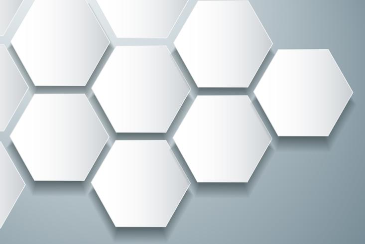 fundo de hexágono e espaço abstrato colmeia de abelha vetor