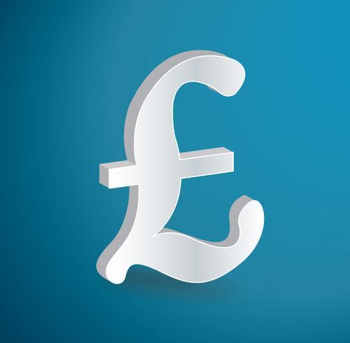Brittiska pund ikon symbol vektor