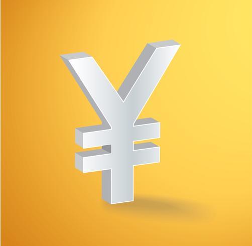 Vettore di simbolo dell'icona di Yen giapponesi