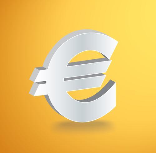 EURO icon symbol vector