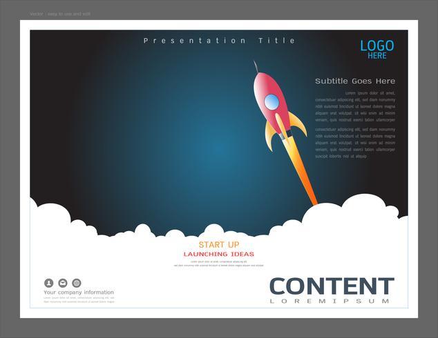 Modelo de design de layout de apresentação, conceito de inicialização.