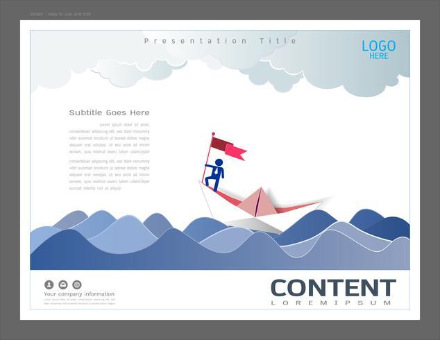 Modèle de conception de présentation de présentation, concept de leadership.