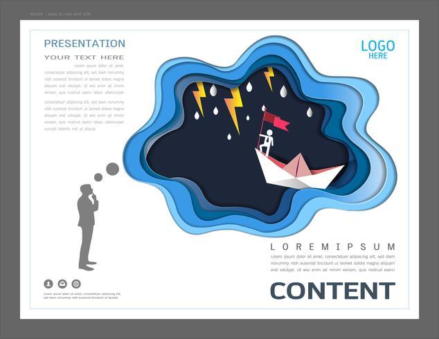 Presentation layout design template, Ledarskaps koncept.