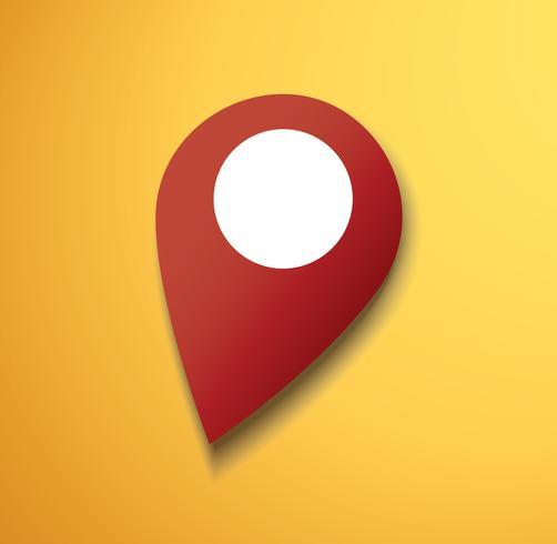pin location icon vector