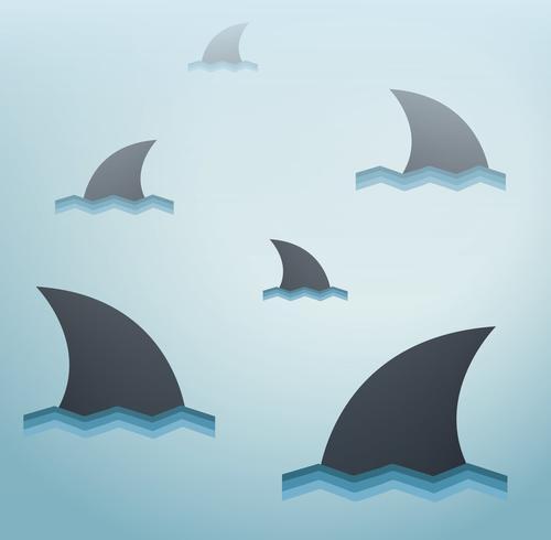 Sfondo vettoriale squalo