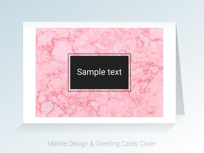 Marble greeting cards and cover background. vector