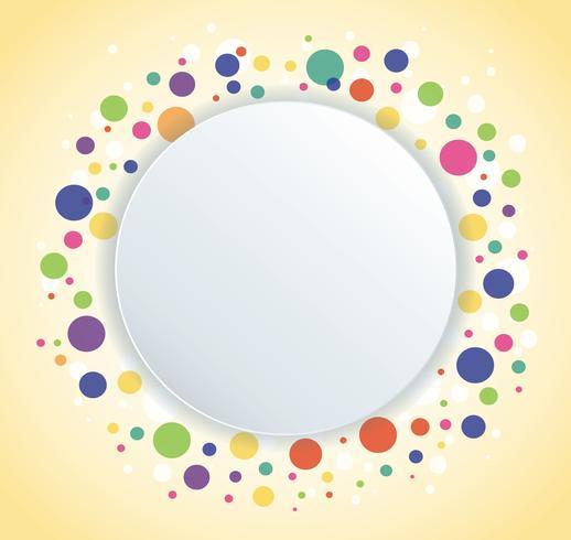 Abstrait coloré cercle rond