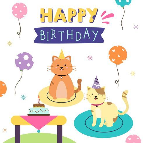Vecteur anniversaire animal