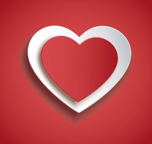 hart in hart vorm pictogram. Valentijnsdag achtergrond