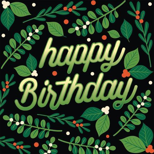 Feliz cumpleaños vector diseño