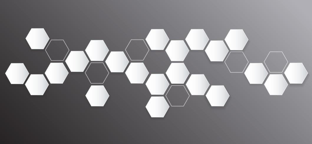 hexágono abstracto abeja colmena de fondo