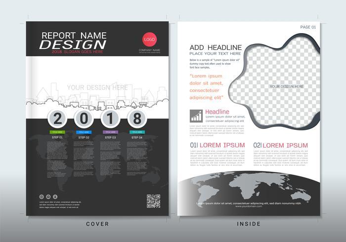 Cubiertas de diseño con espacio para foto de fondo.