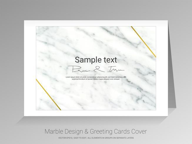 Cartes de voeux en marbre et fond de la couverture.