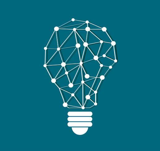 pensant conception polygones symbole en forme d'ampoule, concept écologique, Journée mondiale de l'environnement