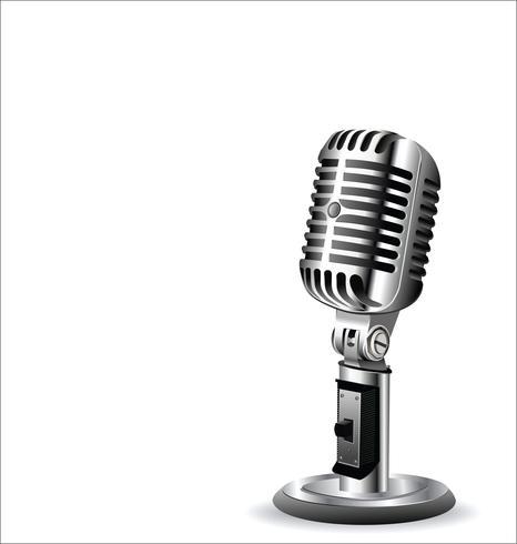 Retro vintage mikrofon design bakgrund