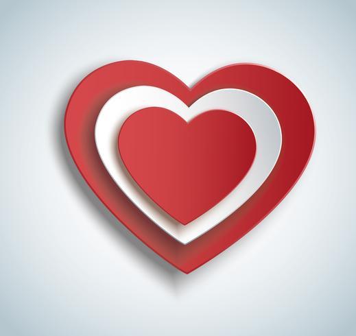 hart in hart vorm pictogram. Valentijnsdag achtergrond vector
