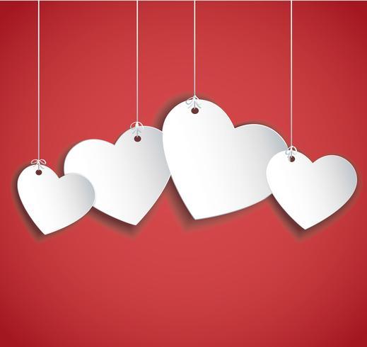 pendurar ilustração de corações. Dia dos namorados