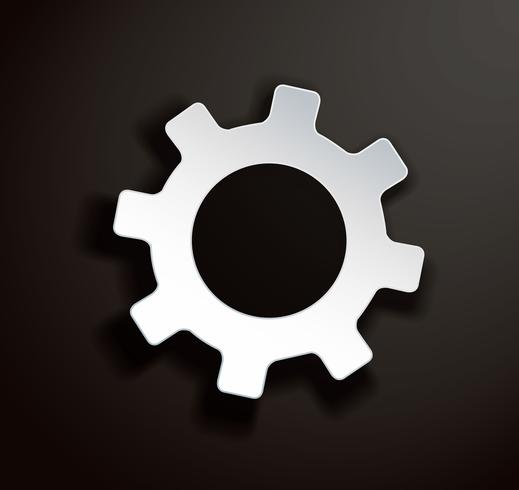 Icône illustration d'engrenage