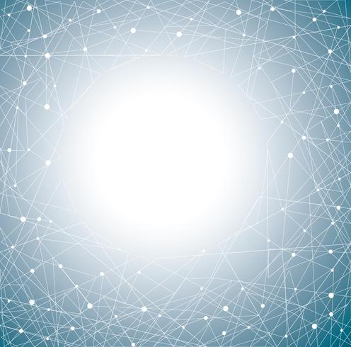 Fondo abstracto azul polígonos vector