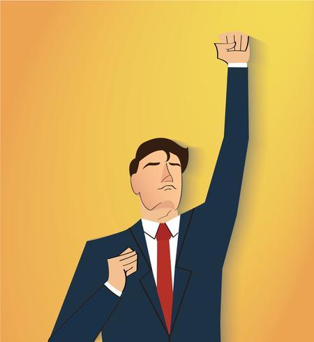 businessman celebrating a successful achievement. Business concept illustration