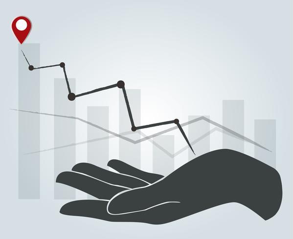 grande main tenant haute graphique, expérience de concept d'affaires