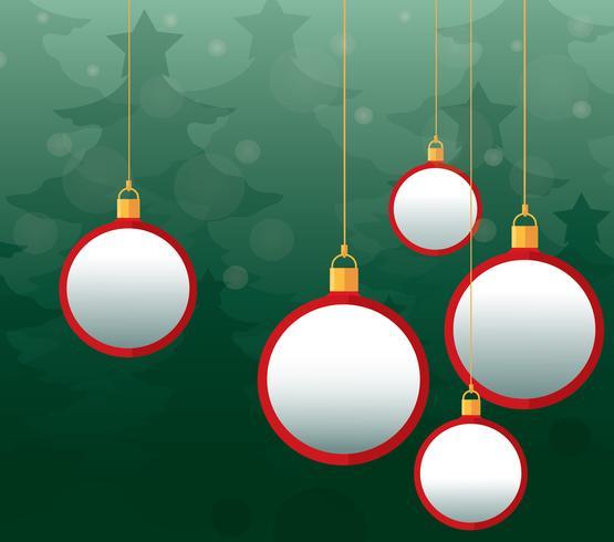 Fondo de bolas de navidad