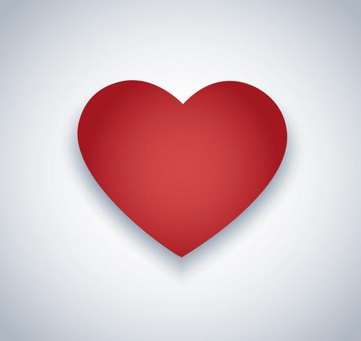 vecteur d'icône de coeur. Fond de la Saint-Valentin