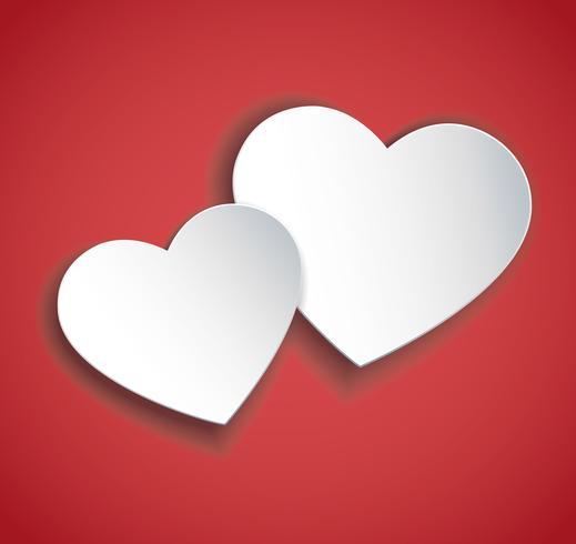 vecteur d'icône deux coeurs. Fond de la Saint-Valentin.