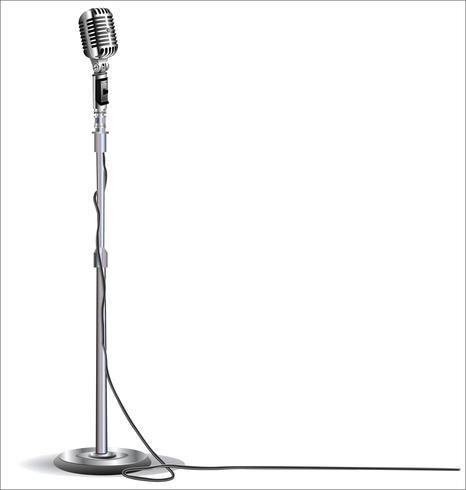 Fondo de diseño de micrófono retro vintage vector
