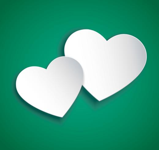 two hearts icon vector. Valentine`s day background.