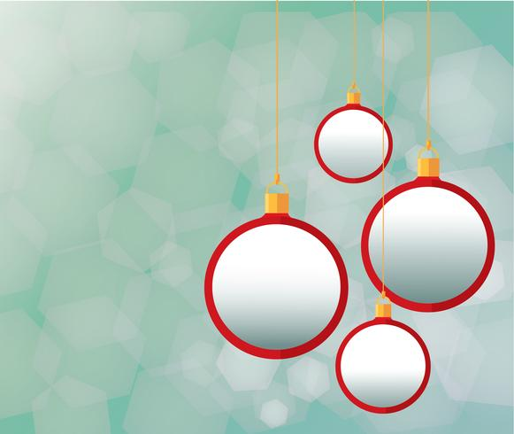 Red Christmas balls and background