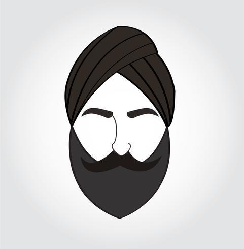 Símbolo de los hombres árabes, icono de vector árabe