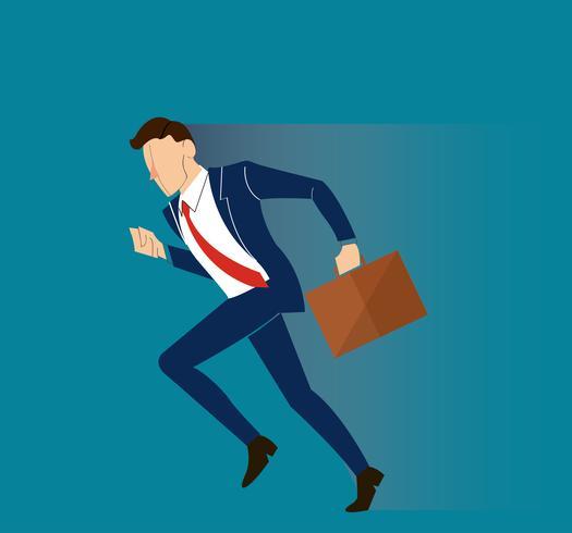 beeilen Sie sich Geschäftsmann Illustration Vektor