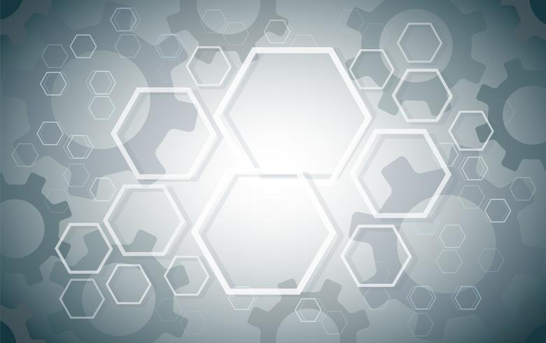 Abstrakter Hexagon- und Ganghintergrund