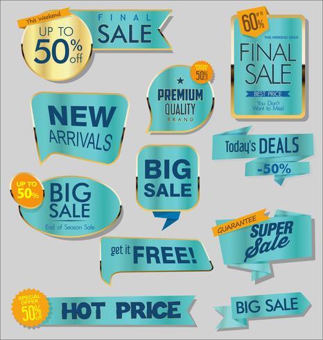 moderna försäljnings klistermärken