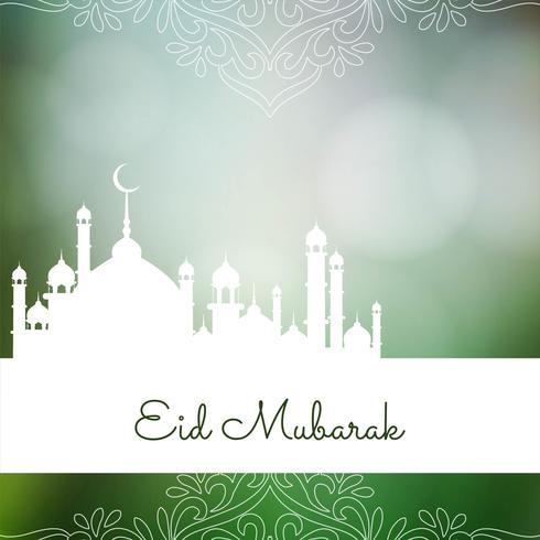 Abstrakt religiös Eid Mubarak bakgrund