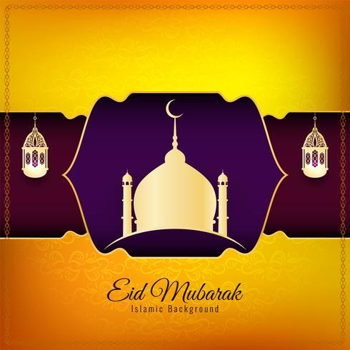 Abstrato islâmico Eid Mubarak fundo