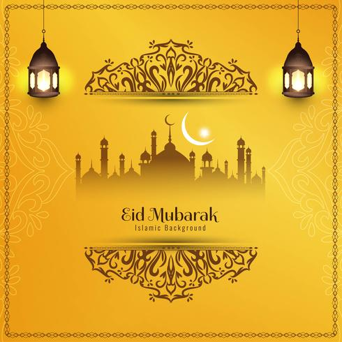 Abstrait décoratif élégant Eid Mubarak