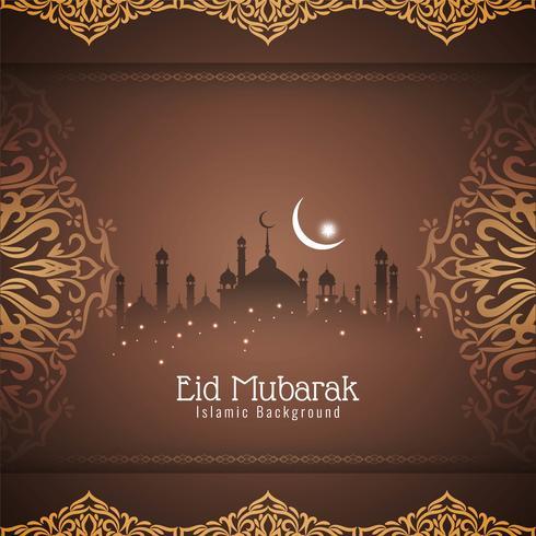 Resumo Eid Mubarak elegante fundo decorativo