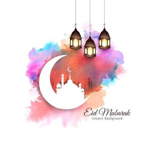 Abstracto elegante elegante fondo Eid Mubarak
