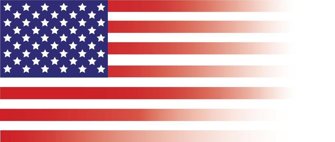 Bandiera degli Stati Uniti d'America, bandiera USA, bandiera America vettore
