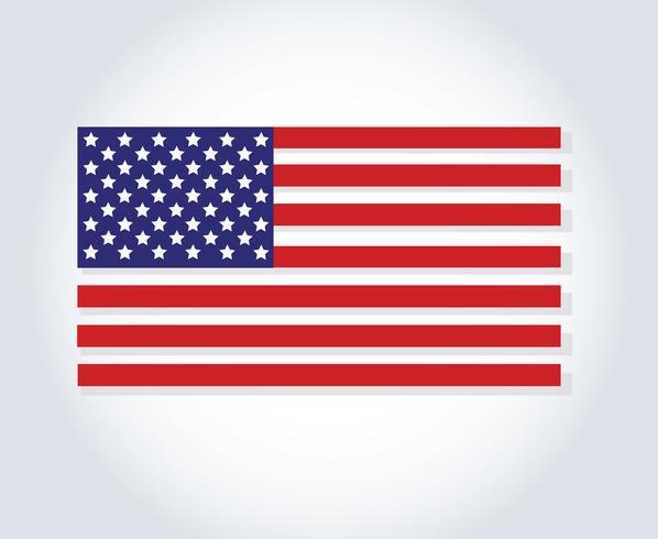 Flagge der Vereinigten Staaten von Amerika, USA-Flagge, Amerika-Flagge vektor