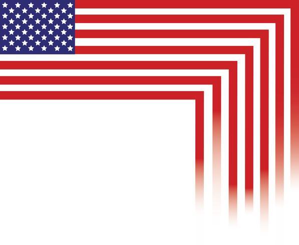 Bandiera degli Stati Uniti d'America, bandiera di USA, fondo astratto della bandiera dell'America vettore