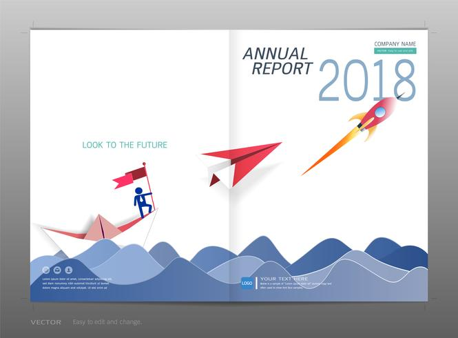 Cover design annual report, Leadership and startup concept. vector