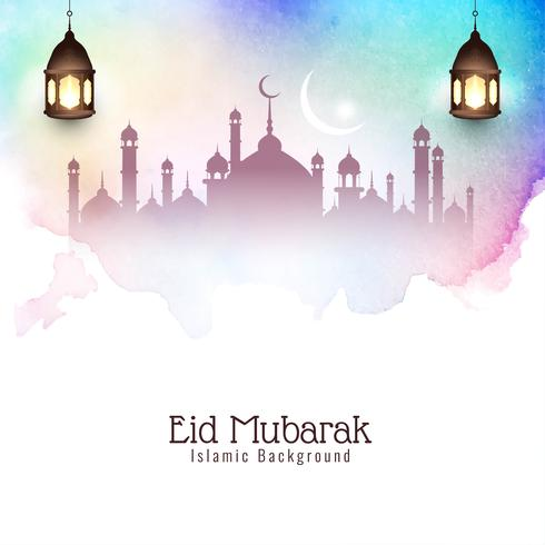 Abstracte Eid Mubarak elegante decoratieve achtergrond