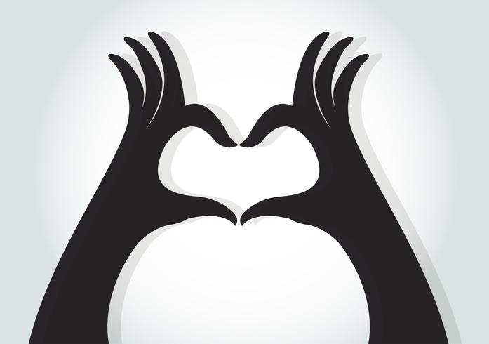 händer gör en hjärtsymbol vektor