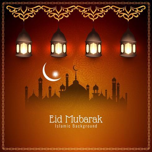 Abstract Islamic beautiful Eid Mubarak background