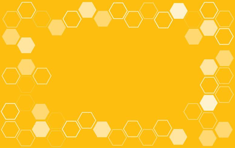 vetor de fundo de colméia de abelha