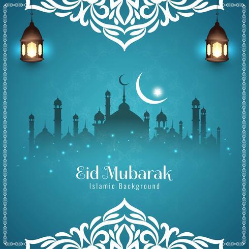 Abstract Eid Mubarak festival greeting background