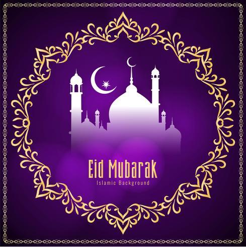 Fundo decorativo abstrato elegante Eid Mubarak